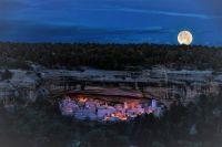 Full moon over mesa verde edit