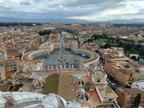 the view from St. Peter's dome