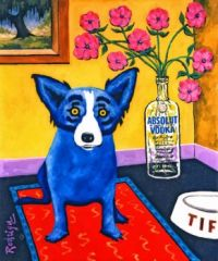 Absolut Blue Dog 99
