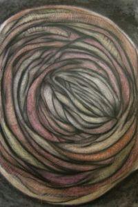 Coloured graphite on paper