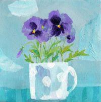 Pansies in a Mug :81