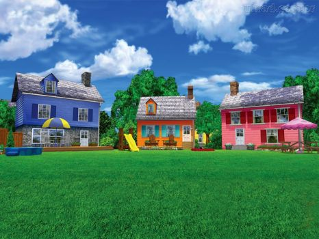 Colorful Houses With Yards