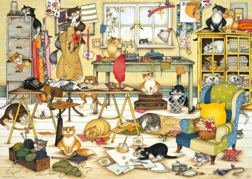 crazy-cats-in-the-craft-room-jigsaw-puzzle