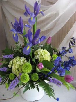 Happiness  is.....Tropical Contemporary Arrangement.