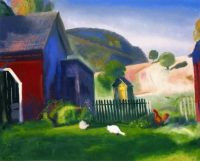 George Wesley Bellows--Barnyard and Chickens, 1924