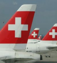 SwissAir at Zurich-Airport, Switzerland...