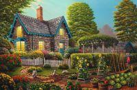 Pretty colorful  cottage!