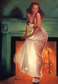 Sheer Delight_Gil Elvgren