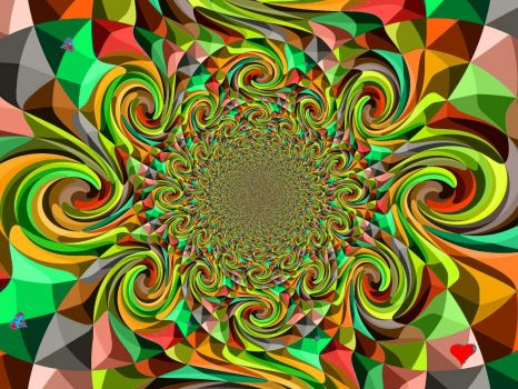 "Kaleidoscope - Medium (with the usual red heart ""signature"")"
