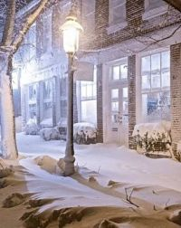 A Nantucket Winter - Snowy Street