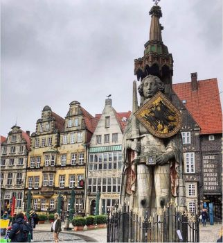 5.17 The Bremen Roland is a statue of Roland, erected in 1404