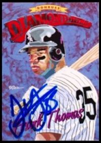 Frank Thomas Autographed 1994 Donruss Diamond King
