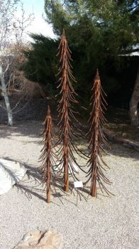 """Treeline"" metal sculpture"