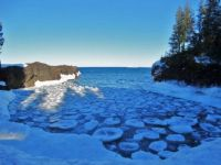 Lake Superior ice breaking up