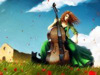 Cello and woman