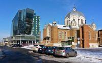 Hyatt Hotel and Greek Temple in Edmonton Canada