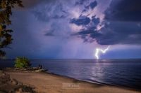 Light Show over Lake Ontario