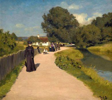"""Hans Andersen Brendekilde, """"An Afternoon Promenade"""""""
