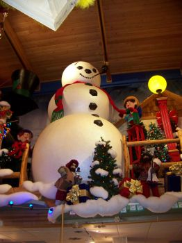 Snowman at Frankenmuth, Michigan