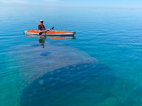 Brett over a shipwreck on Lake Superior