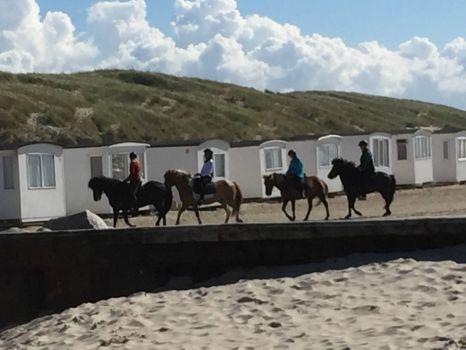On the Beach in Løkken in Denmark