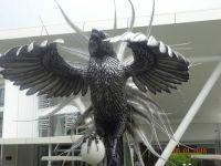 statue in front of resort in Suva