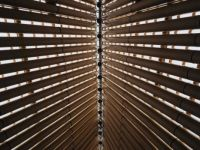 The Cardboard Cathedral roof.