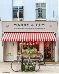 Shop with awning, Clerkenwell, Islington, Greater London