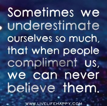 sometimes we underestimate...