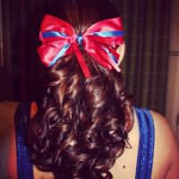 022  RED RIBBON FOR HER HAIR