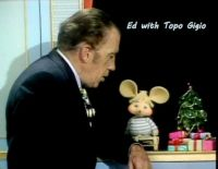 Ed Sullivan with Topo Gigio