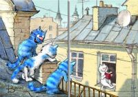 Cat Neighbors by NLKCanvas