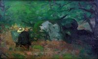 Le peintre Monet dans la Forêt de Fontainebleau  Alfred Sisley, vers 1865