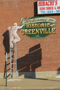 Mural of Painter - Greenville, IL
