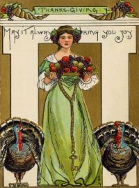 ''Thanksgiving''  ~  Vintage Postcard