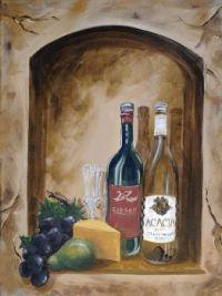wine mural