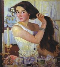 Self Portrait at the Dressing Table, Zinaida Serebriakova