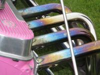 Pink Roadster's Colorful Pipes