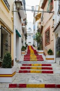 Staircase in Old Town, Calp, Spain