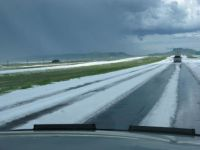 Hail storm in New Mexico 2015