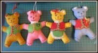 Family of   Christmas bears - For you Janet