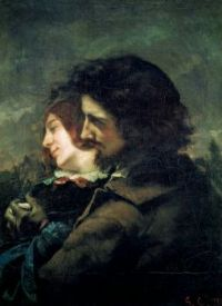 Gustave Courbet--The Happy Lovers, 1844