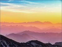 Silhouette Of Mountains by Simon Matzinger
