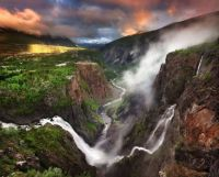 Voringfossen is the 83rd highest waterfall in Norway
