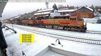 Flag BNSF-4723, 8180, 4044, 6156, SNOW  45-pc