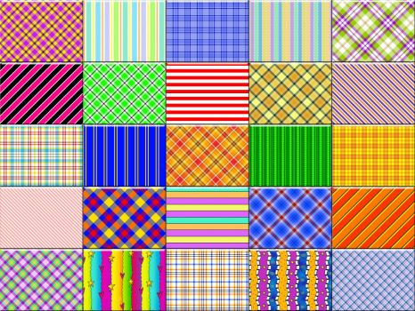Plaids for Sue with stripes along for the ride ☺