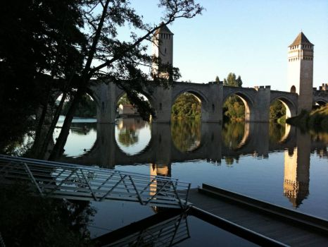 Beautiful bridge at Cahors, France