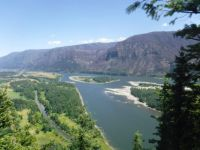 Columbia River, looking east, from Beacon Rock, Washington state