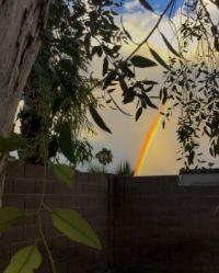 7-24-2020 dusk rainbow from my backyard