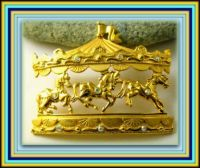 THEME - Horses - Carousel Brooch - from Rocks to Riches